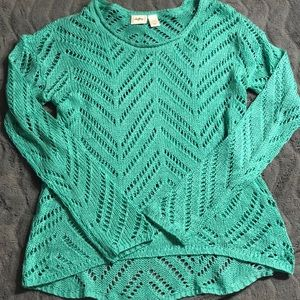 Woman's aqua knitted sweater